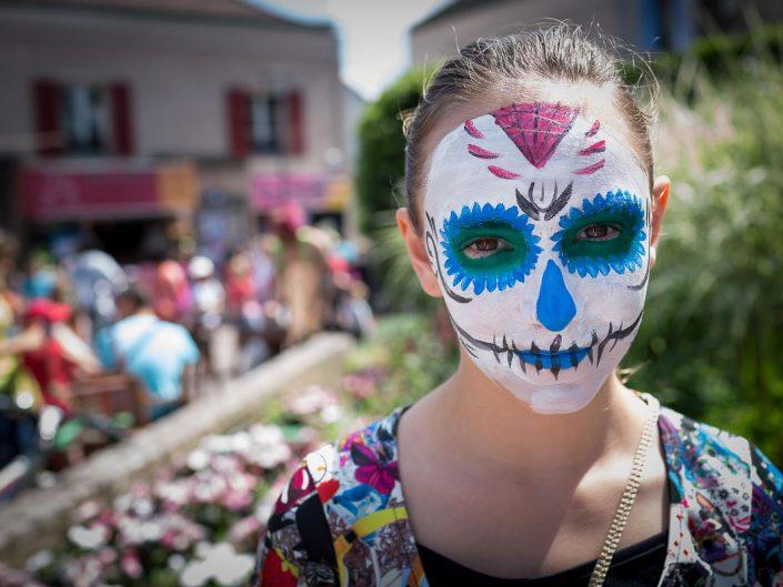 Séance de maquillage Fête de rue